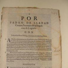 Libros antiguos: MITAD SIGLO XVII. LOGROÑO INQUISICIÓN.. Lote 39881008