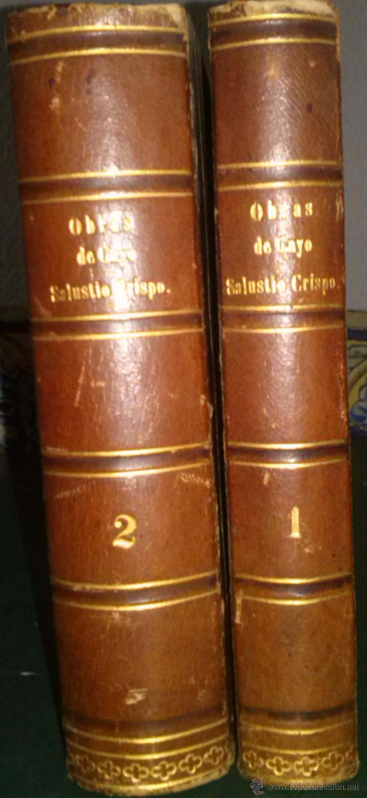 Libros antiguos: OBRAS DE CAYO SALUSTIO CRISPO. TRADUCCIÓN DE SEÑOR INFANTE D. GABRIEL. DOS TOMOS COMPLETO 1804 - Foto 2 - 40019148