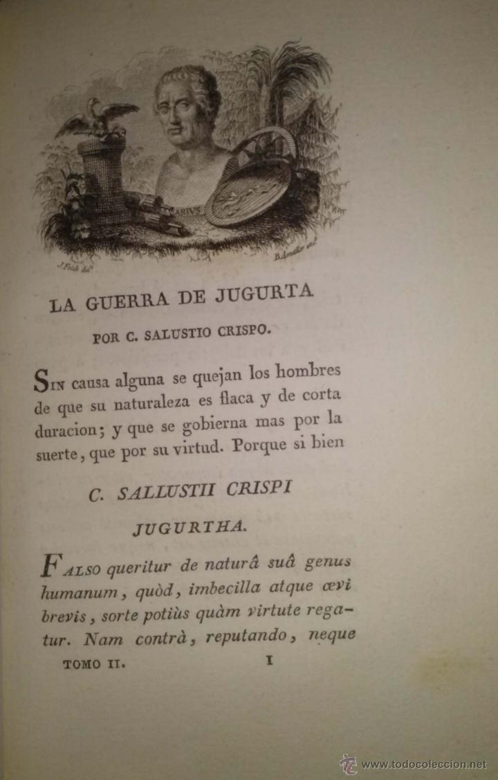 Libros antiguos: OBRAS DE CAYO SALUSTIO CRISPO. TRADUCCIÓN DE SEÑOR INFANTE D. GABRIEL. DOS TOMOS COMPLETO 1804 - Foto 6 - 40019148