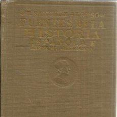 Libros antiguos: FUENTES DE LA HISTORIA ESPAÑOLA E HISPANOAMERICANA. B. SÁNCHEZ ALONSO. MADRID. 1927. Lote 40050630
