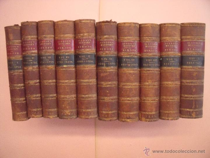 Libros antiguos: ARCHIBALD ALISON.-HISTORIA DE EUROPA.-EXCEPCIONAL OBRA Y RARA VEZ ENCONTRADA CON EL ATLAS.-AÑO 1875 - Foto 2 - 40161079