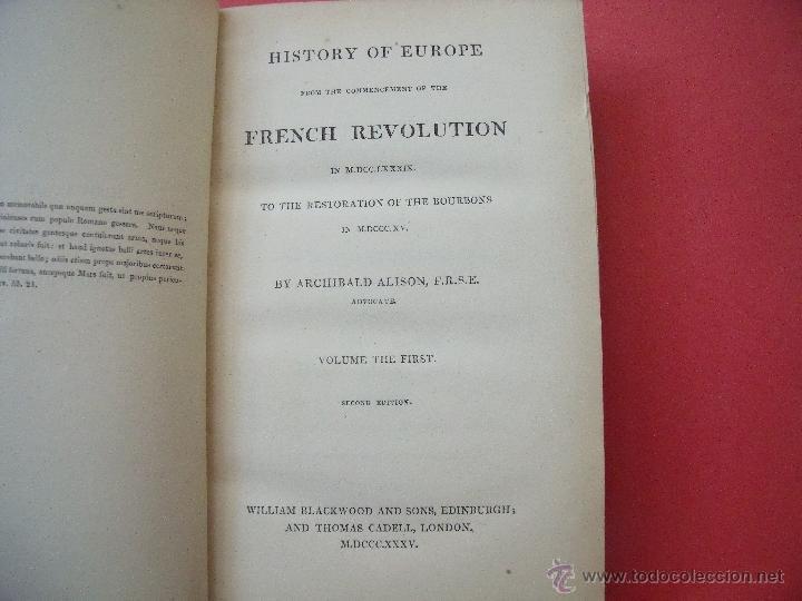 Libros antiguos: ARCHIBALD ALISON.-HISTORIA DE EUROPA.-EXCEPCIONAL OBRA Y RARA VEZ ENCONTRADA CON EL ATLAS.-AÑO 1875 - Foto 5 - 40161079