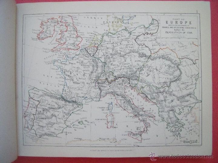 Libros antiguos: ARCHIBALD ALISON.-HISTORIA DE EUROPA.-EXCEPCIONAL OBRA Y RARA VEZ ENCONTRADA CON EL ATLAS.-AÑO 1875 - Foto 7 - 40161079