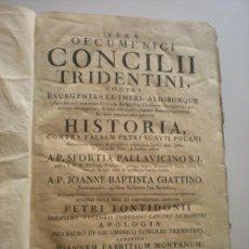 Libros antiguos: CONCILI TREDENTINI - 1775. Lote 41249601