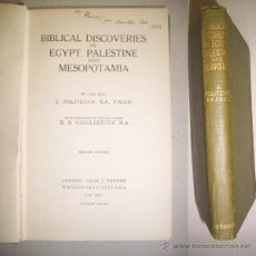 Libros antiguos: POLITEYAN, J. BIBLICAL DISCOVERIES IN EGYPT, PALESTINE AND MESOPOTAMIA. Lote 41746117