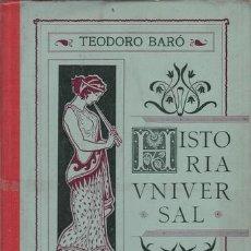 Libros antiguos: BARO, TEODORO: HISTORIA UNIVERSAL EN CUADROS AMENOS E INSTRUCTIVOS. EDAD ANTIGUA.. Lote 42135332