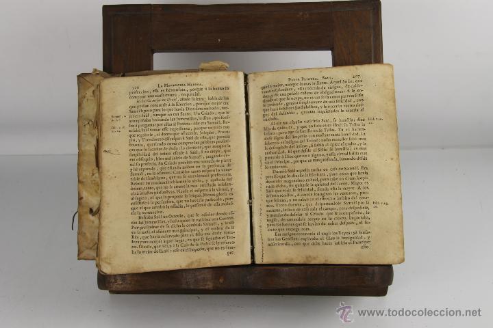 Libros antiguos: D-272.MONARCHIA HEBREA. VICENTE BACALLAR. IMP. GABRIEL RAMIREZ. 1749. - Foto 3 - 42276654
