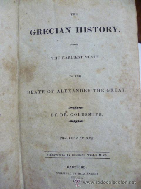 Libros antiguos: The Grecian History - from the Earliest State to the Death of Alexander the Great - by Dr. Goldsmith - Foto 4 - 42857007