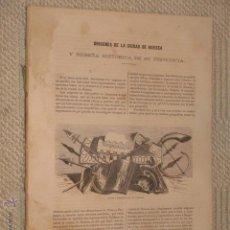 Libros antiguos: CRÓNICA GENERAL DE ESPAÑA. PROVINCIA DE HUESCA, POR JOSÉ FERNANDO GONZÁLEZ 1866 (INCOMPLETA). Lote 43385404