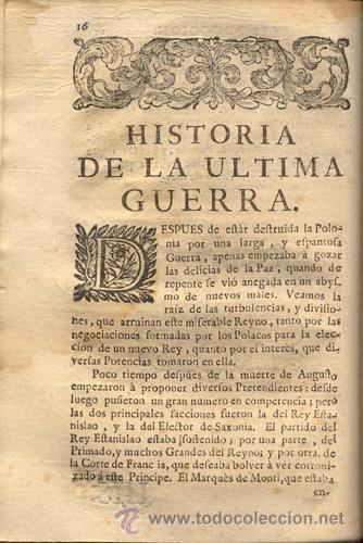 Libros antiguos: HISTORIA DE LA ÚLTIMA GUERRA – AÑO 1738 - Foto 6 - 43581332