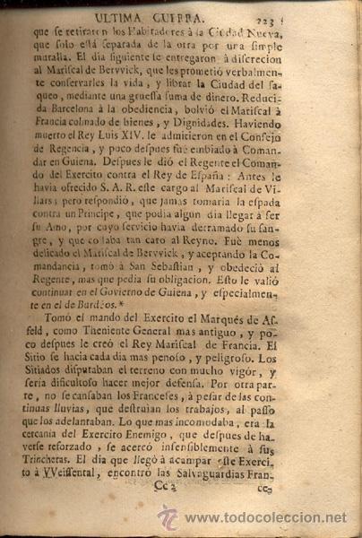 Libros antiguos: HISTORIA DE LA ÚLTIMA GUERRA – AÑO 1738 - Foto 8 - 43581332