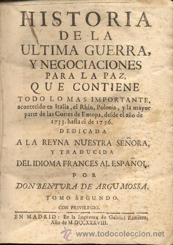 Libros antiguos: HISTORIA DE LA ÚLTIMA GUERRA – AÑO 1738 - Foto 9 - 43581332