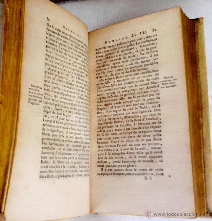 Libros antiguos: ANTIGUO LIBRO-HISTORIA DE ROMA-AÑO 1813,GUERRAS PUNICAS CON CARTAGO, EN FRANCES,TOMO III, 200 AÑOS ¡ - Foto 3 - 43898746
