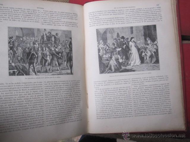 Libros antiguos: HISTORIA DE LA REVOLUCION FRANCESA Y HISTORIA DEL CONSULADO Y DEL IMPERIO. 1876-1879. MONTANER 1890 - Foto 11 - 43913896