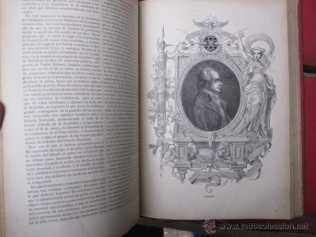 Libros antiguos: HISTORIA DE LA REVOLUCION FRANCESA Y HISTORIA DEL CONSULADO Y DEL IMPERIO. 1876-1879. MONTANER 1890 - Foto 12 - 43913896