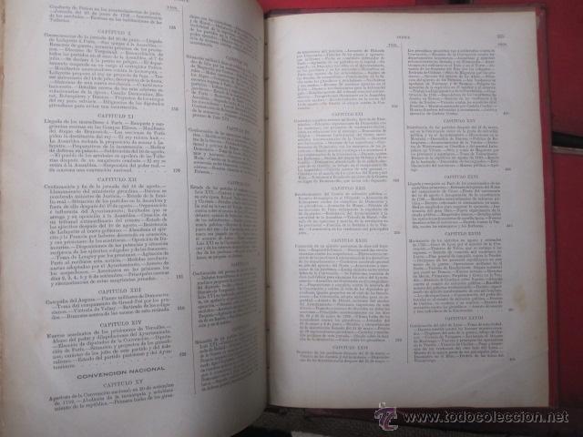 Libros antiguos: HISTORIA DE LA REVOLUCION FRANCESA Y HISTORIA DEL CONSULADO Y DEL IMPERIO. 1876-1879. MONTANER 1890 - Foto 13 - 43913896