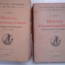 Libros antiguos: HISTORIA DE LOS MUSULMANES EN ESPAÑA HASTA LA CONQUISTA DE LOS ALMORAVIDES . Lote 43931635