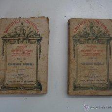 Libros antiguos: BIBLIOTECA UNIVERSAL, CURIOSIDADES HISTORICAS.DOS TOMOS. Lote 43933861