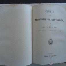 Libros antiguos: SANTANDER,BURGOS, LOGROÑO,SORIA,SEGOVIA Y AVILA.'CRONICA GENERAL DE ESPAÑA' 6 TOMOS 1 VOLUMEN 1870. Lote 43948612