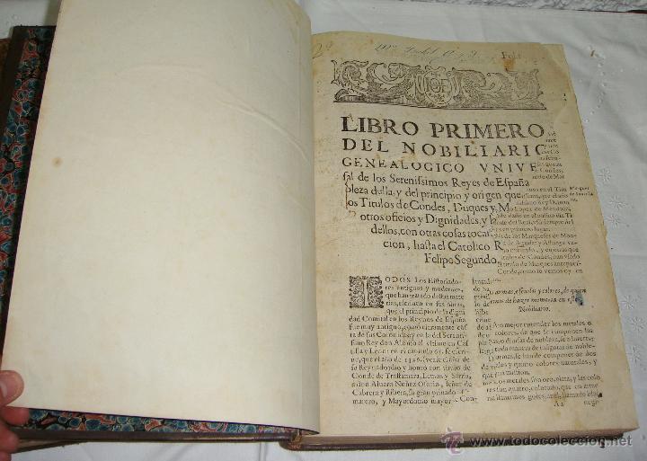 Libros antiguos: Nobiliario Genealógico de los Reyes de España. Madrid - 1622. Desplegable del Marques de Cañete - Foto 4 - 44039314