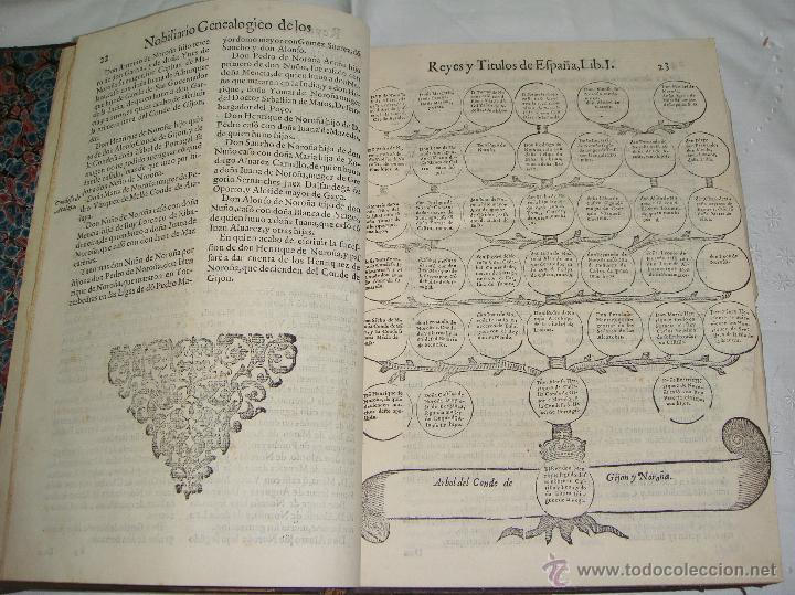 Libros antiguos: Nobiliario Genealógico de los Reyes de España. Madrid - 1622. Desplegable del Marques de Cañete - Foto 5 - 44039314