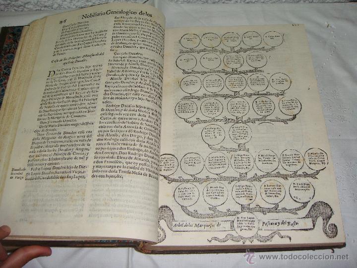 Libros antiguos: Nobiliario Genealógico de los Reyes de España. Madrid - 1622. Desplegable del Marques de Cañete - Foto 6 - 44039314