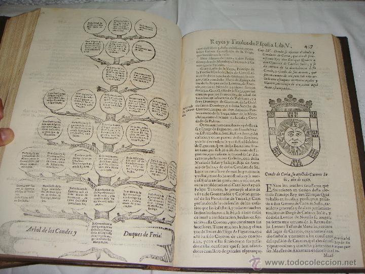 Libros antiguos: Nobiliario Genealógico de los Reyes de España. Madrid - 1622. Desplegable del Marques de Cañete - Foto 7 - 44039314