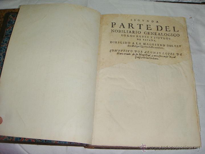 Libros antiguos: Nobiliario Genealógico de los Reyes de España. Madrid - 1622. Desplegable del Marques de Cañete - Foto 8 - 44039314