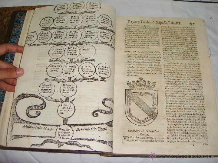 Libros antiguos: Nobiliario Genealógico de los Reyes de España. Madrid - 1622. Desplegable del Marques de Cañete - Foto 9 - 44039314