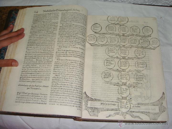 Libros antiguos: Nobiliario Genealógico de los Reyes de España. Madrid - 1622. Desplegable del Marques de Cañete - Foto 10 - 44039314