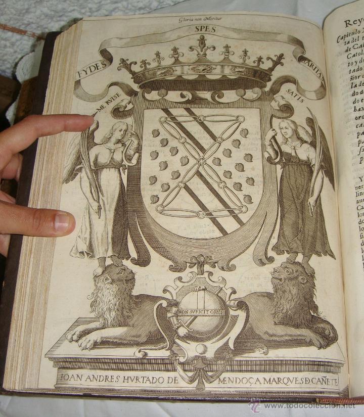 Libros antiguos: Nobiliario Genealógico de los Reyes de España. Madrid - 1622. Desplegable del Marques de Cañete - Foto 12 - 44039314