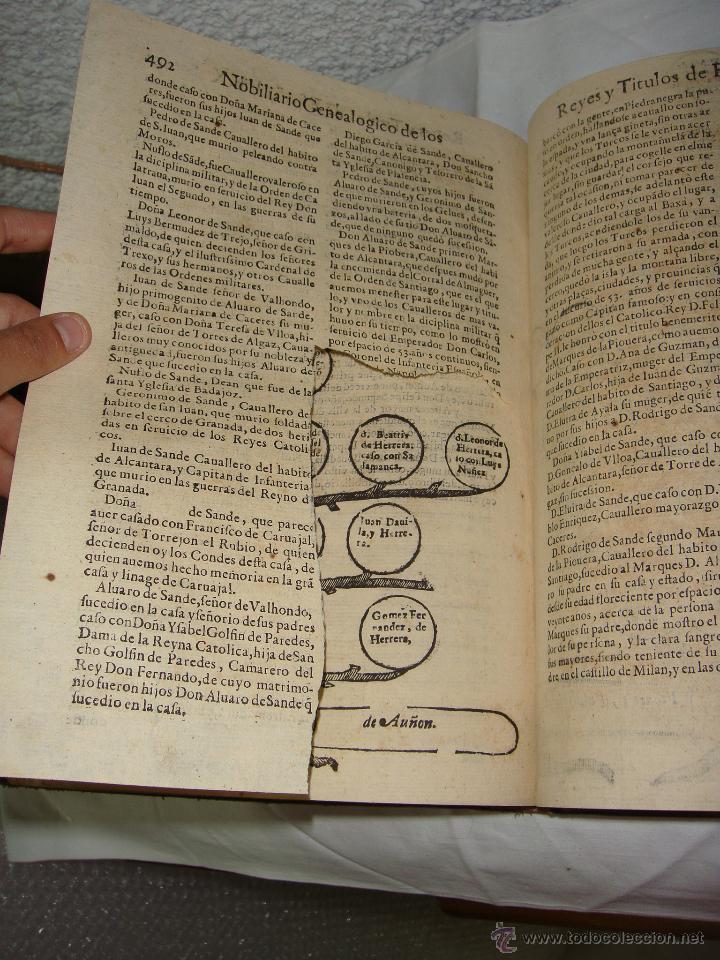 Libros antiguos: Nobiliario Genealógico de los Reyes de España. Madrid - 1622. Desplegable del Marques de Cañete - Foto 13 - 44039314