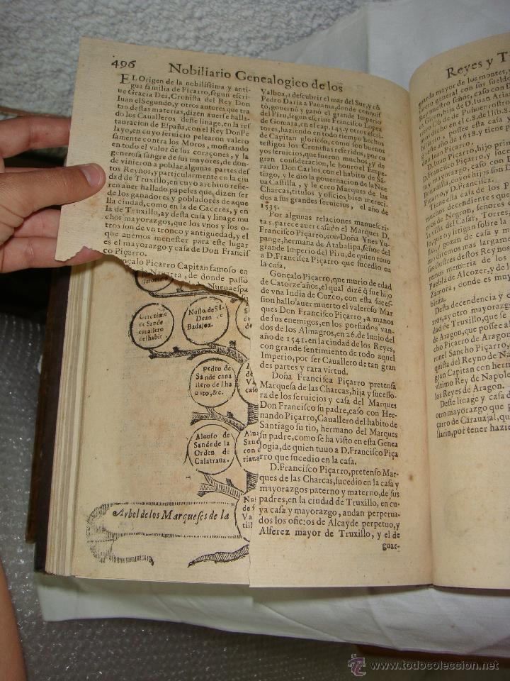 Libros antiguos: Nobiliario Genealógico de los Reyes de España. Madrid - 1622. Desplegable del Marques de Cañete - Foto 14 - 44039314