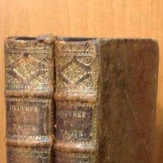 Libros antiguos: D'ABLANCOURT. LES OEUVRES DE TACITE. TRAD. N. PERROT. IMP. JEAN DE RAVESTEYN. AMSTERDAM, 1670.. Lote 44054528