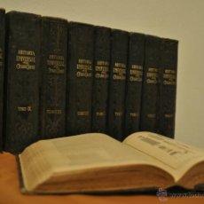 Libros antiguos: HISTORIA UNIVERSAL POR CESAR CANTÚ - SEGUNDA EDICION - 10 TOMOS. Lote 44065302