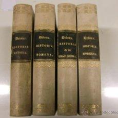 Libros antiguos: 4 TOMOS DE COMPEDIO DE Hª ANTIGUA ROMANA, EDAD MEDIA, MODERNA. DE 1857 Y 1858. Lote 44073291