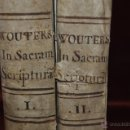 Libros antiguos: DILUCIDATIONIS SELECTARUM SARCRAE SCRIPTURAE QUAESTIONUM.POR F. MARTINO WOUTERS. 1778. 2 TOMOS. Lote 44471245