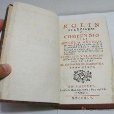 Libros antiguos: TOMO VI. ROLLIN ABREVIADO O COMPENDIO DE LA HISTORIA ANTIGUA 1745. CON LAMINAS EN EL INTERIOR.. Lote 45268089