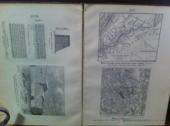 Libros antiguos: Bilder-Atlas- GUERRA GALIAS. JULIO CESAR. GRABADOS. 1907 - Foto 5 - 45370551