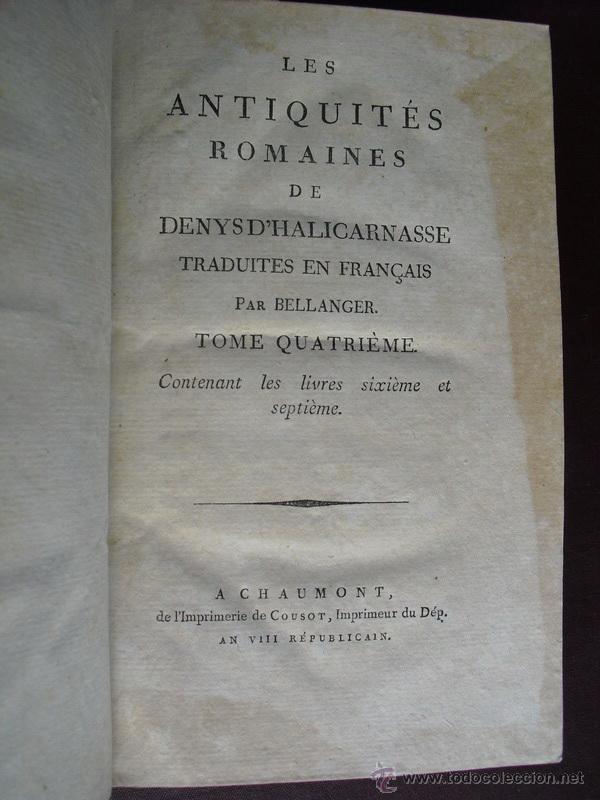 1797 Les Antiquites Romaines Historia Antigua Comprar Libros