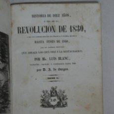 Libros antiguos: HISTORIA FRANCIA REVOLUCIÓN 30 LOUIS BLANC 1A EDICIÓN ESPAÑOLA 1845. Lote 45926583