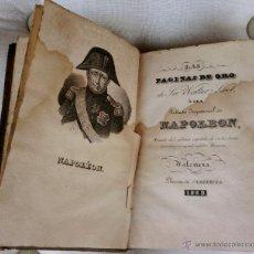 Libros antiguos: LIBRO-RETRATO IMPARCIAL DE NAPOLEON-BONAPARTE,AÑO1829, SOLO 8 AÑOS DE SU MUERTE,PERDEDOR DE WATERLOO. Lote 45981332