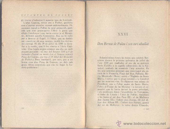 Libros antiguos: ESTAMPES DE POBLET - MN. J. PALOMER - 1927 - Foto 3 - 46016645