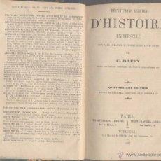 Libros antiguos: RÉPÉTITIONS ÉCRITES D'HISTOIRE UNIVERSELLE - C. RAFFY - 1887. Lote 46096589
