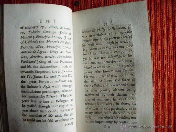 Libros antiguos: 1782-ANÉCDOTAS DE PINTORES ESPAÑOLES.SIGLOS XVI Y XVII.GRECO.MURILLO.VELAZQUÉZ.REYES DE ESPAÑA.ORIGI - Foto 3 - 46121601