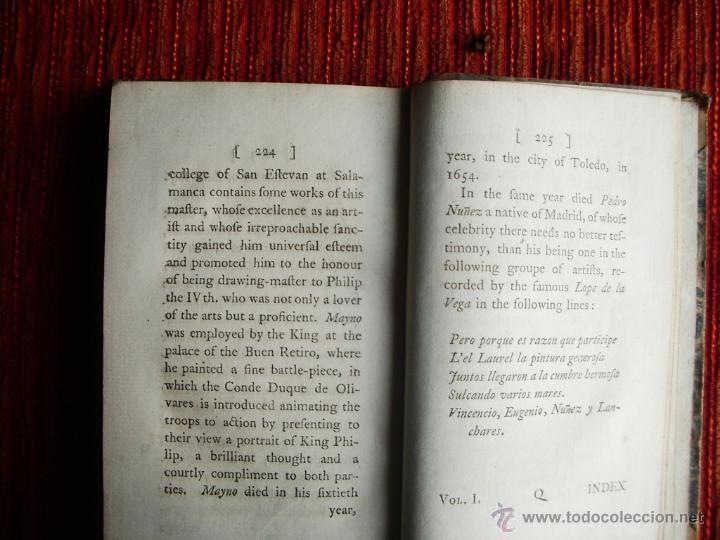 Libros antiguos: 1782-ANÉCDOTAS DE PINTORES ESPAÑOLES.SIGLOS XVI Y XVII.GRECO.MURILLO.VELAZQUÉZ.REYES DE ESPAÑA.ORIGI - Foto 4 - 46121601