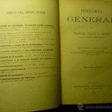 Libros antiguos: LIBRO HISTORIA GENERAL-1905-MANUEL SALES FERRE.--CATEDRATICO -2 EDICION. Lote 46180055