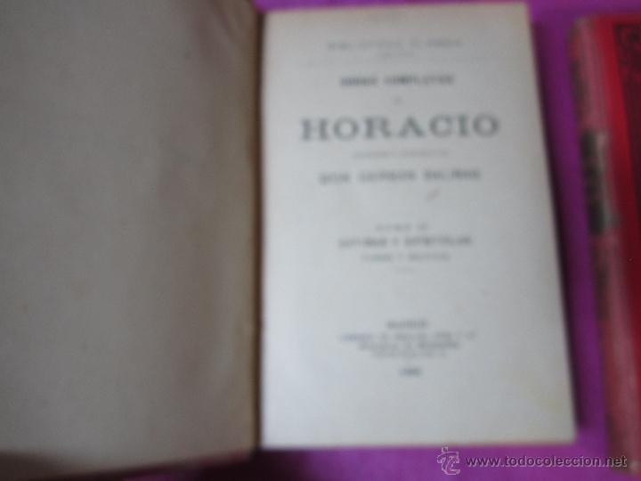 Libros antiguos: OBRAS COMPLETAS DE HORACIO 2 TOMOS BIBLIOTECA CLASICA AÑO 1909 .E12 - Foto 4 - 46195199