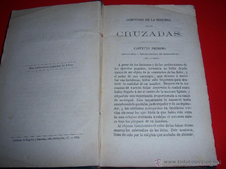 Libros antiguos: HISTORIA DE LAS CRUZADAS - Foto 3 - 46221500