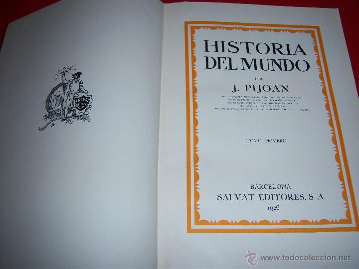 Libros antiguos: HISTORIA DEL MUNDO. por JOSE PIJOAN. 5 TOMOS - Foto 2 - 46223252